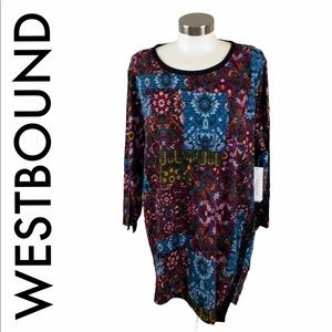 WESTBOUND NWT MULTICOLORED TOP SIZE 2X